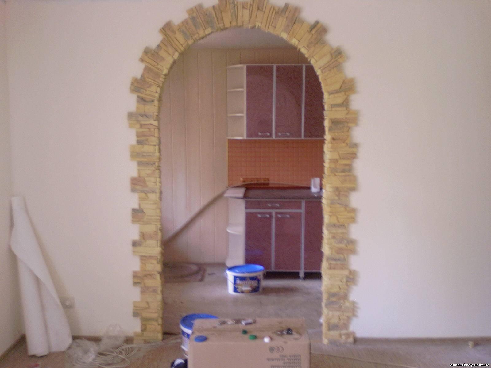 Оформление арки в квартире обоями своими руками 60